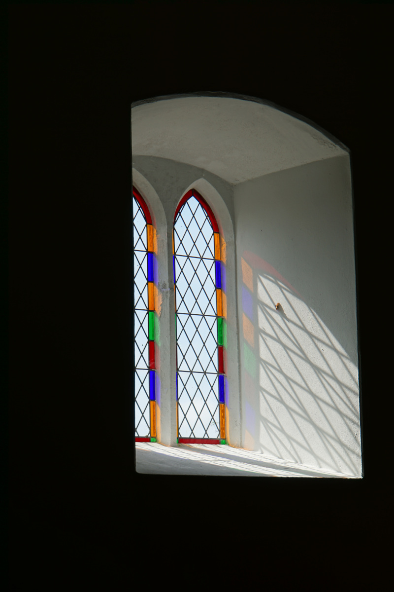 Light coming through the window at St Michael's Church
