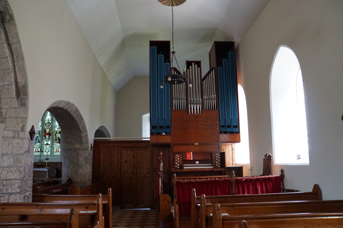 Looking towards the organ after the work has been completed.